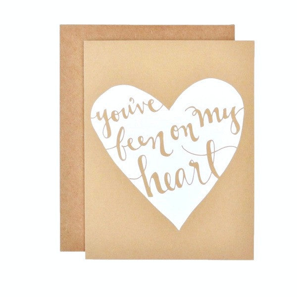 stock image of You've Been on my Heart card