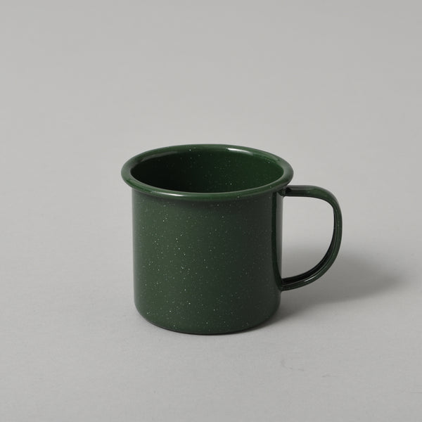 FLECKED ENAMEL MUG GREEN