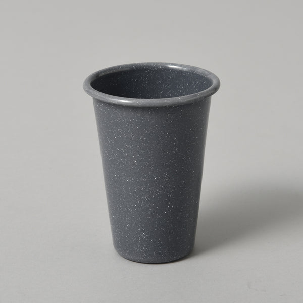 FLECKED ENAMEL TUMBLER GREY