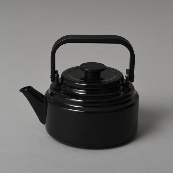 JAPANESE ENAMEL KETTLE BLACK