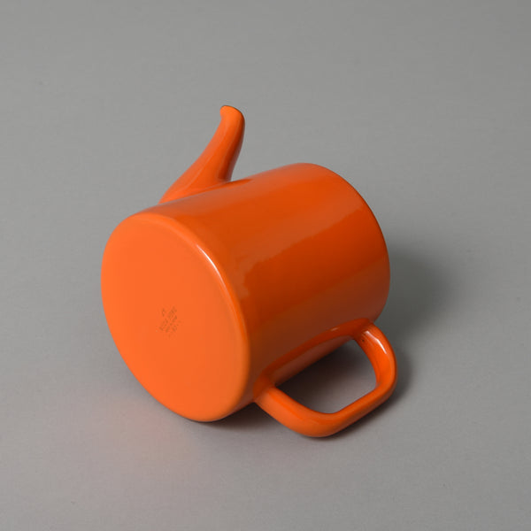 JAPANESE ENAMEL TEAPOT ORANGE