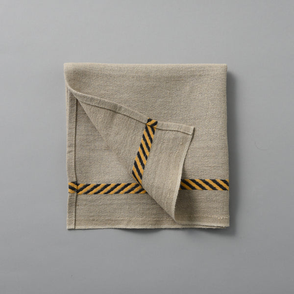 FRENCH LINEN TEA TOWEL HAZARD STRIPE
