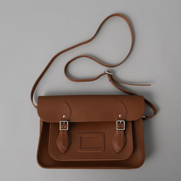 SMALL SATCHEL VINTAGE BROWN