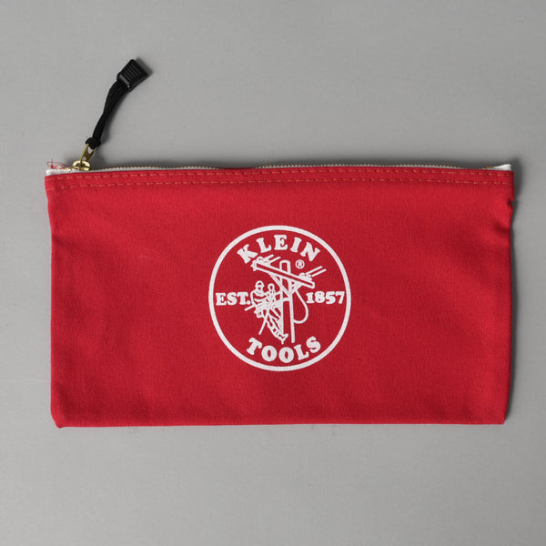 CANVAS ZIPPER BAG RED