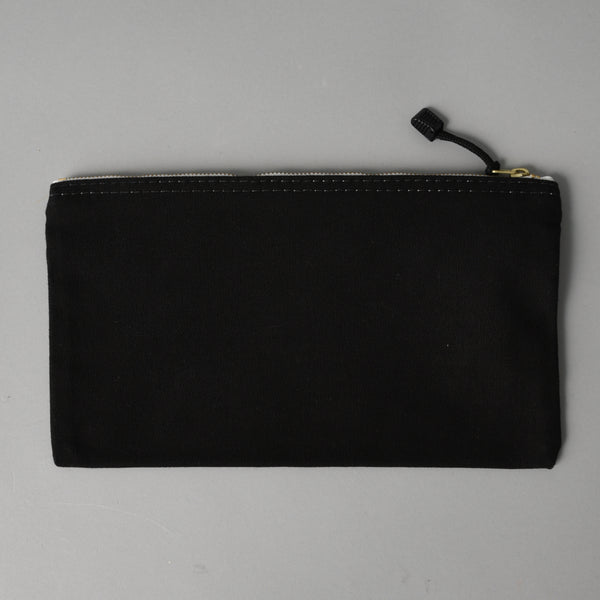 CANVAS ZIPPER BAG BLACK