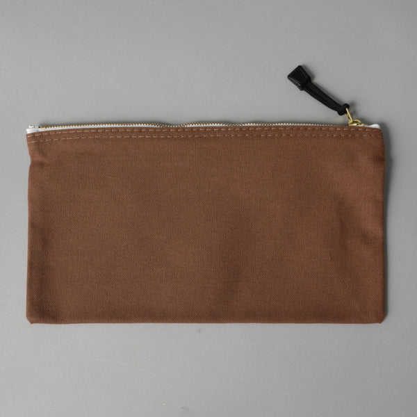 CANVAS ZIPPER BAG BROWN