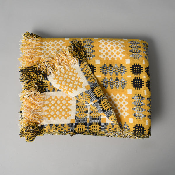 WELSH TAPESTRY BLANKET GOLD