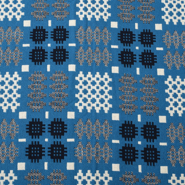 WELSH TAPESTRY BLANKET PETROL