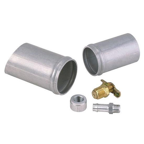 Aluminum Radiator Weld-On Inlet/Outlet Neck Kit w/ Petcock