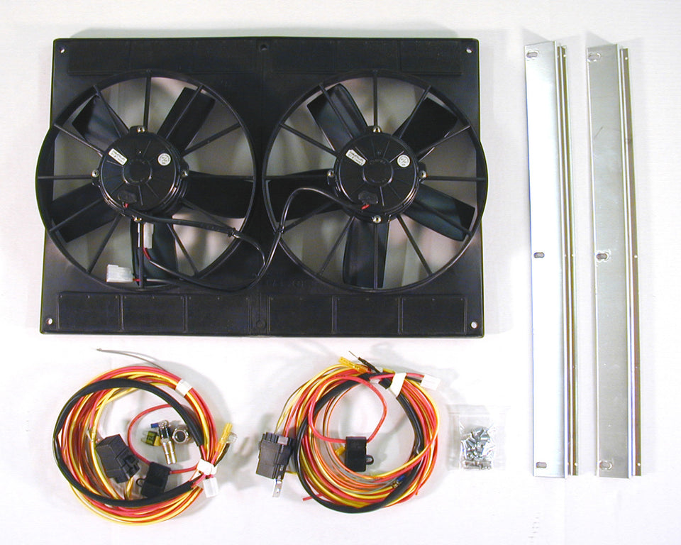 Spal Dual fan kit – DeWitts™ Direct Fit® Aluminum Radiators