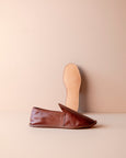 leather house shoes for men [brown]