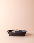 leather catch all bowl [black]