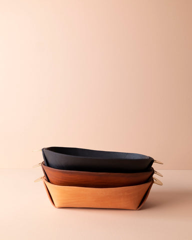 Leather Catch All Bowl