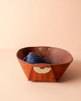 leather catch all bowl [brown]