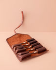 Leather Tool Roll Pouch