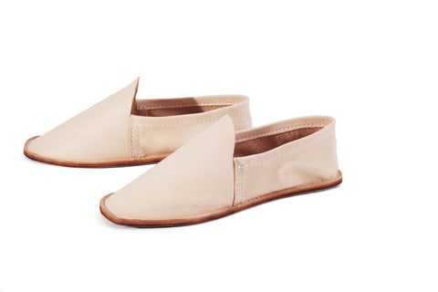 Leather House Shoe- Women's Natural
