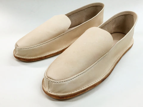 Leather Travel Slipper- Men's Natural