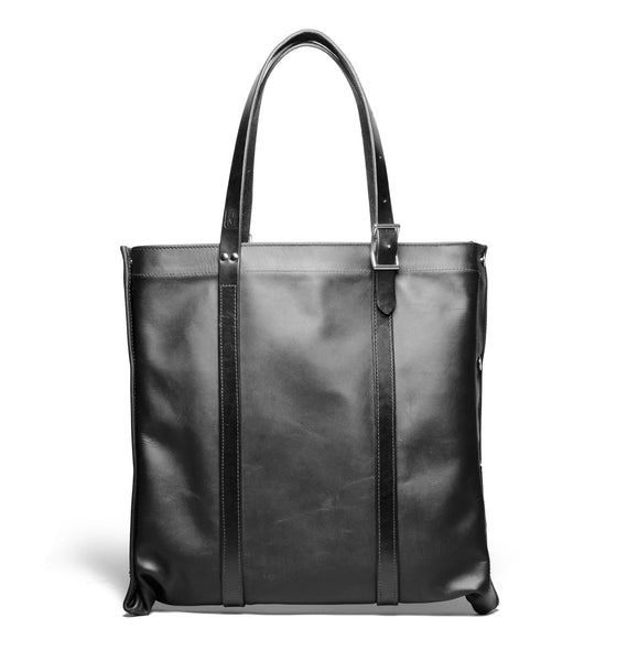 Convertible Tote Black/Stainless