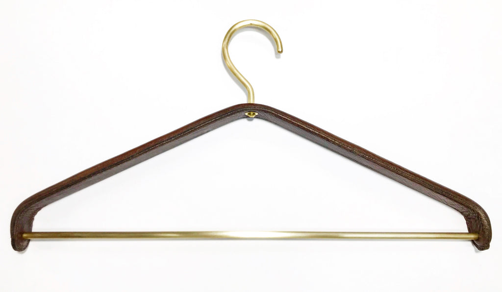 Brass and Leather Hanger