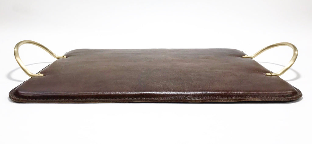 Brass and Leather Serving Tray
