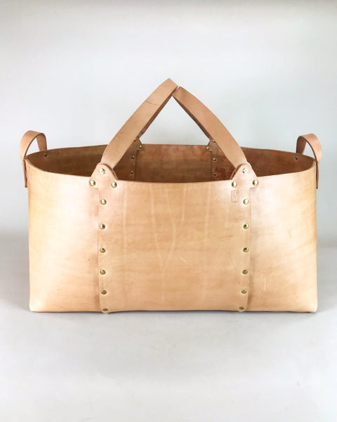 Leather Basket Large