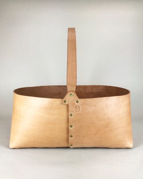 Leather Basket Medium