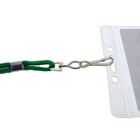 Premium Name Tag Badge Holders With Lanyards (Horizontal) By Specialist Id  (Green)