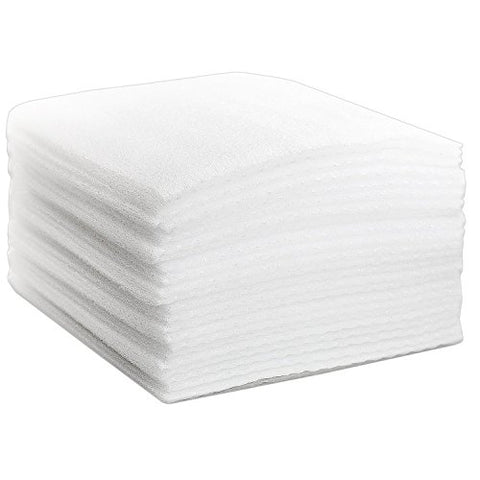 Foam Cushion Sheet Stack Of 50 Extra Thick 1/8 - 12 X 12 Cushioned  Insulation Wrap Sheets Protective Packing & Moving Supplies For Dishes,  Glasses &