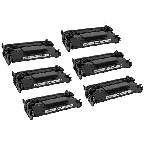 Speedy Inks - 6Pk Compatible Replacement For Hp 26A Cf226A Cf226 Black  Toner Cartridge For Use In Hp Laserjet Pro M402N, M402Dn, M402Dw, M426Fdn,  Mfp