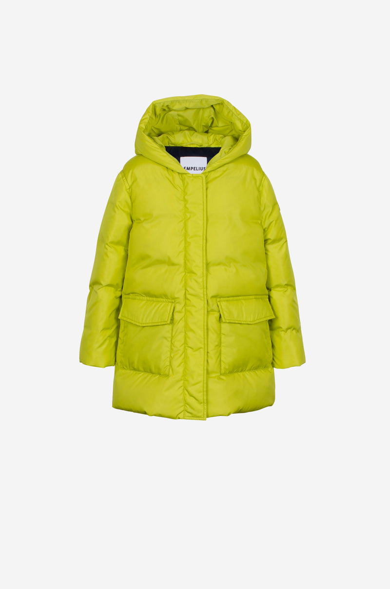 Girls Down Parka in lime
