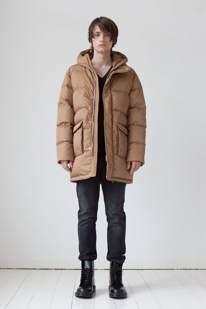 Down Parka in camel