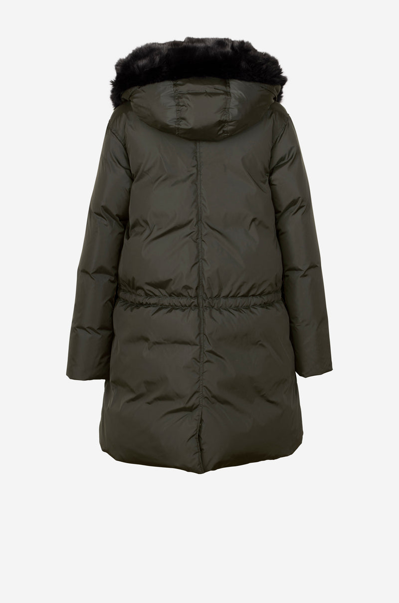 Down Parka in dark green