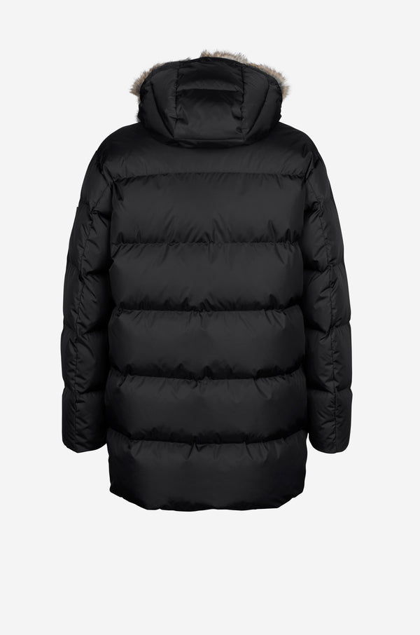 Straight down Coat in black