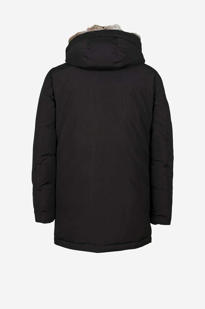 Matte Down Parka in black