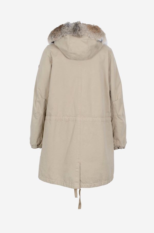 Cotton Parka in oat