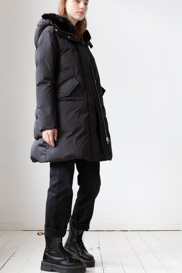 Down Parka in black