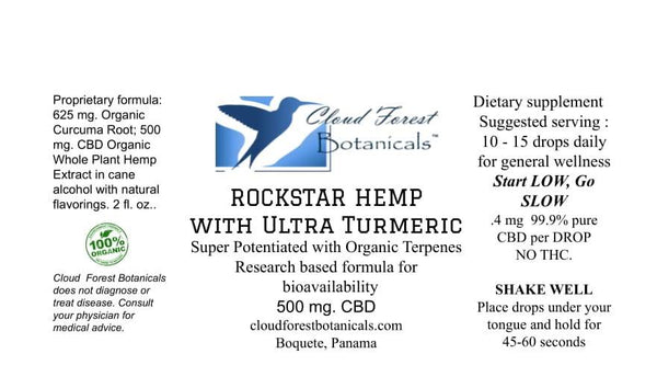 Rockstar Hemp with Ultra Turmeric 500 mg.