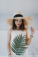 Elaine Raw-Edge Straw Hat