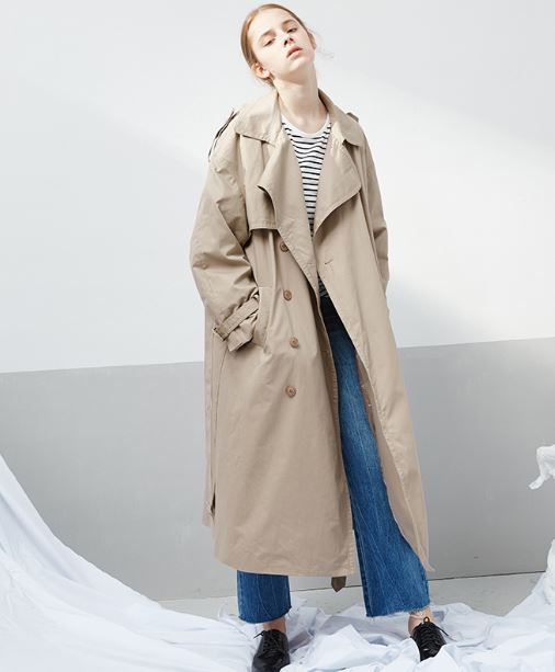 Valencia Oversize Cotton Trench Coat
