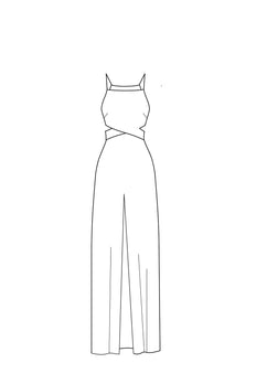 change to front slit - straight neckline