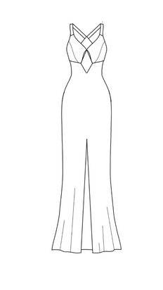 add front slit - wide straps