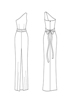 add sash - one shoulder
