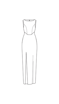add side slit - close cutouts