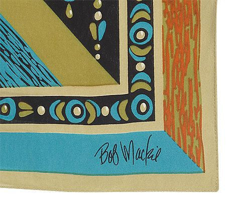 Bob Mackie's Fantasy Pyramid Colorful Silk Scarf