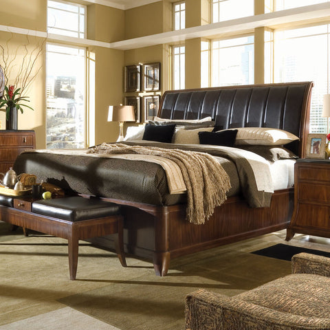 Bob Mackie Home - Signature Sleigh Bed - Queen