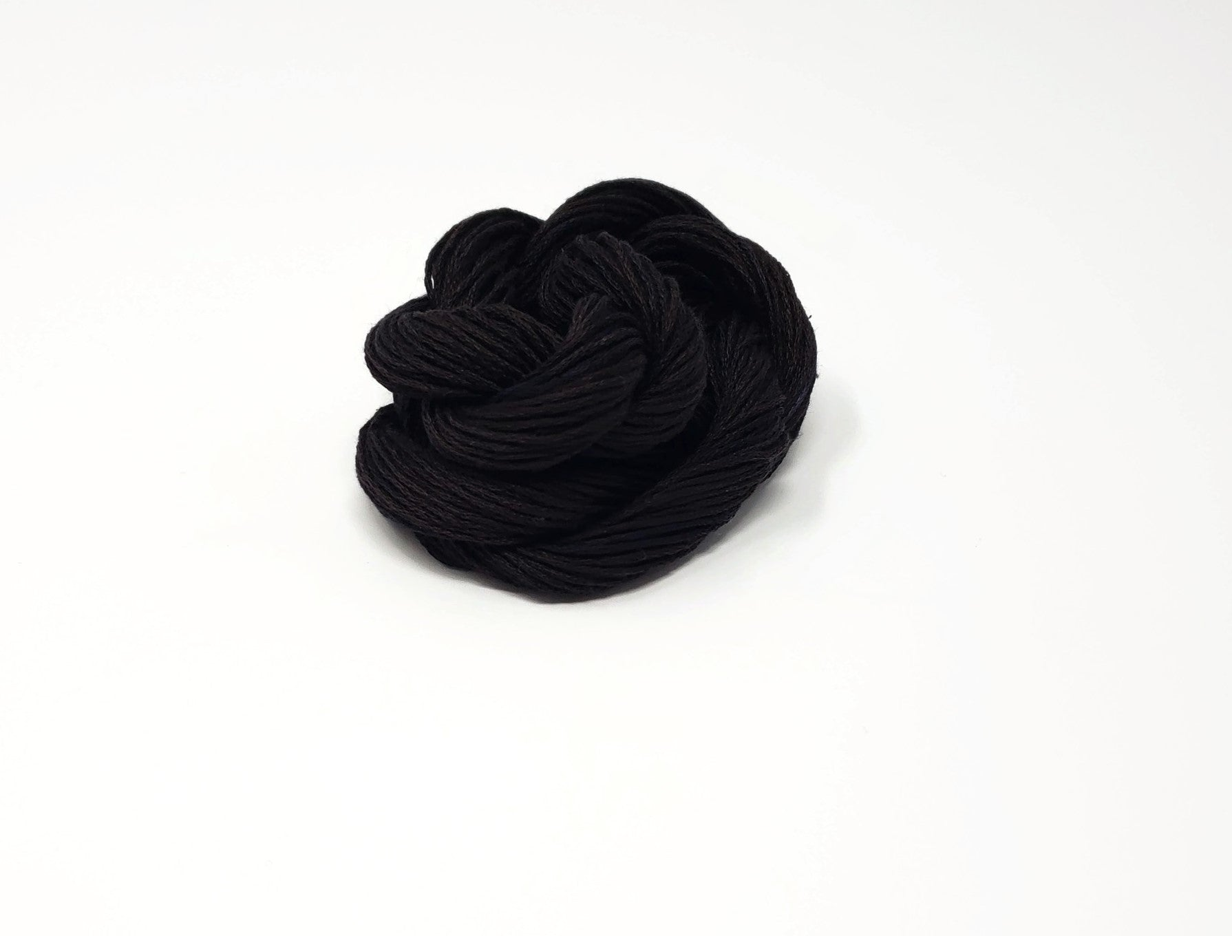 Cauldron- Black Hand Dyed Silk