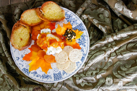 Apricot Oolong Compote with crackers