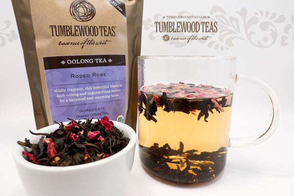 Rodeo Rose oolong tea, cowgirl style
