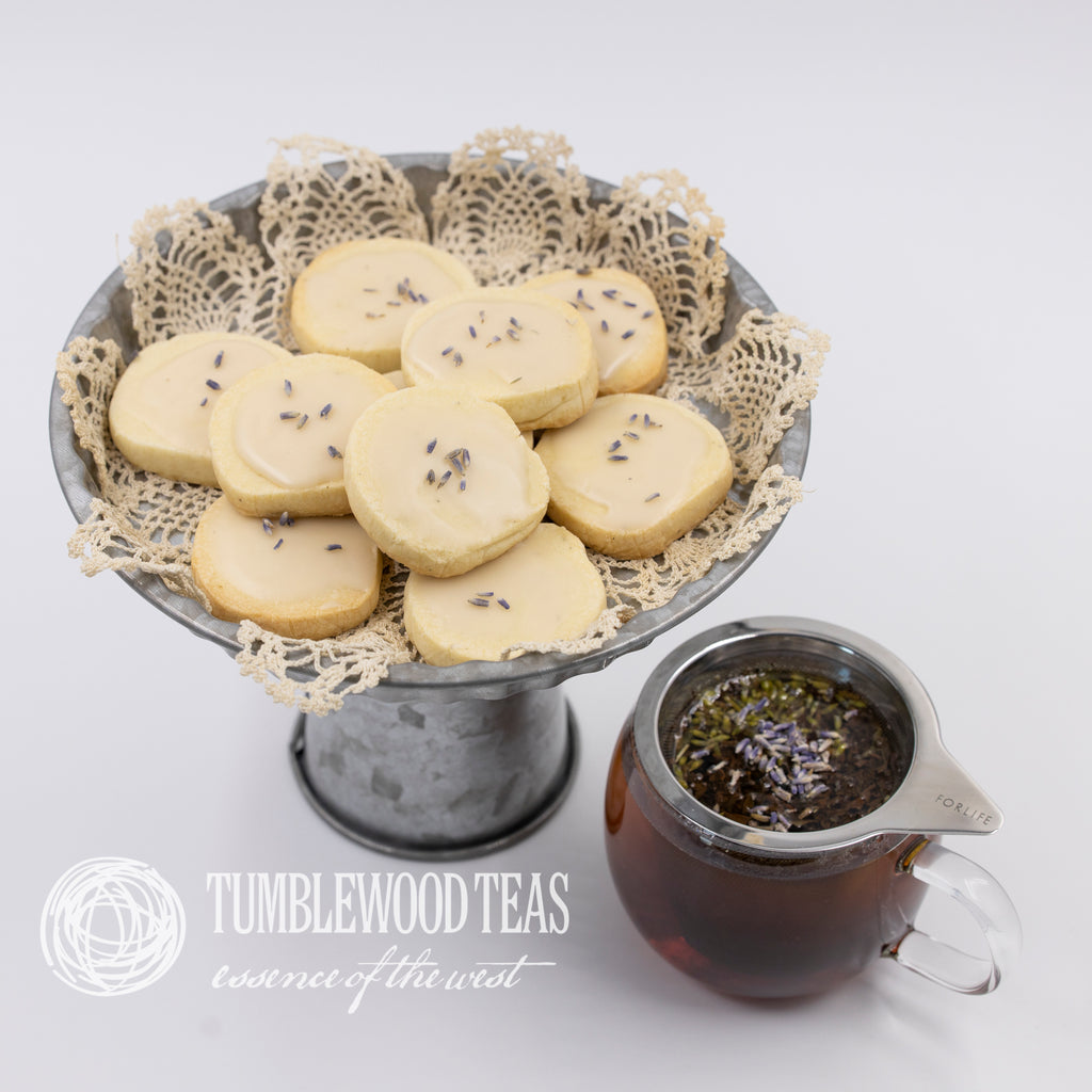 Lavender Earl Grey butter cookies from Tumblewood Teas' recipe box