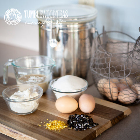 Tumblewood's Lavender Earl Grey black tea blend is one of my favorites to include in recipes. It adds a fresh citrus zing with just a hint of lavender - and who can resist lavender?!